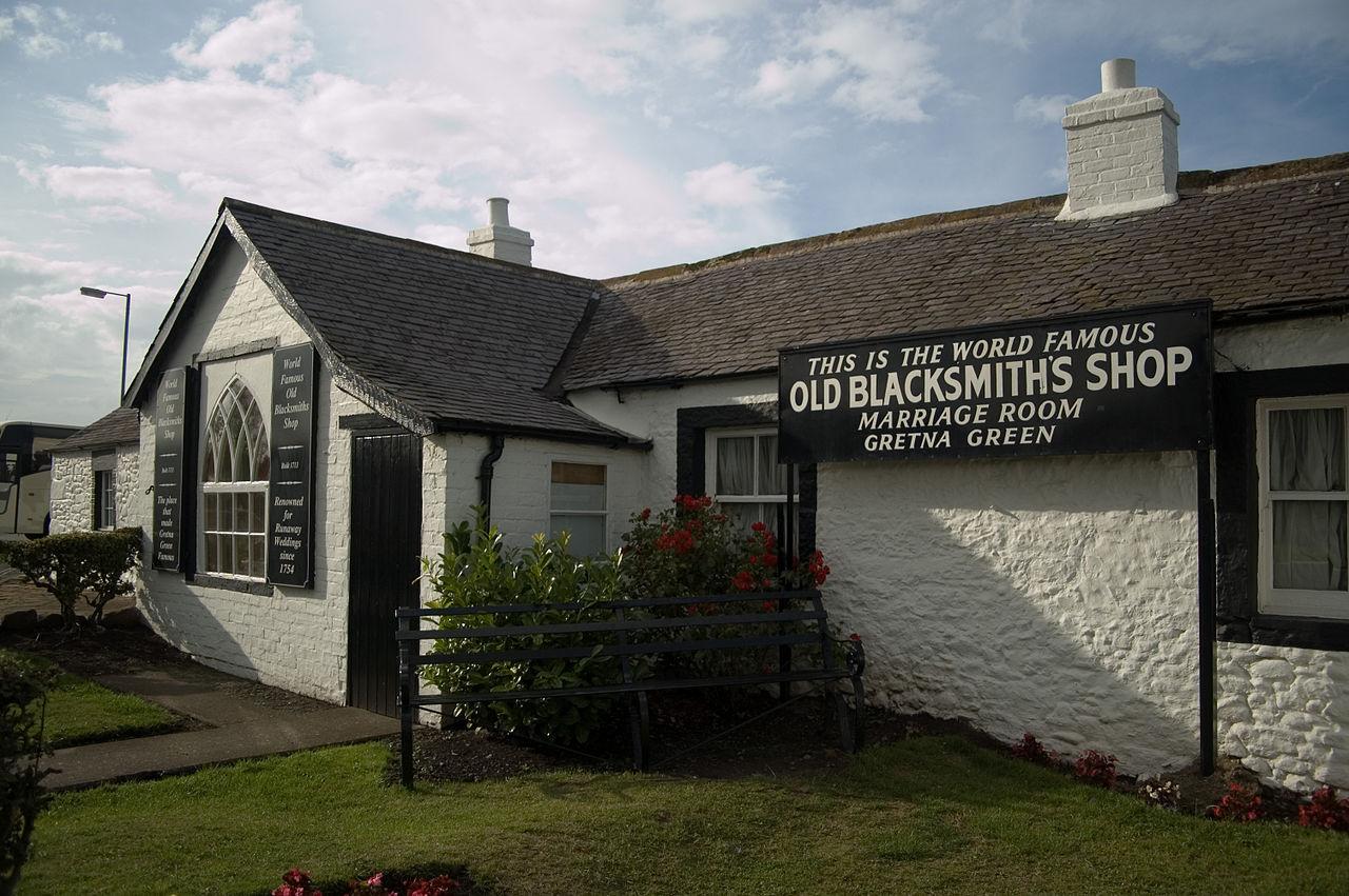 Gretna Green híres kovácsműhelye
