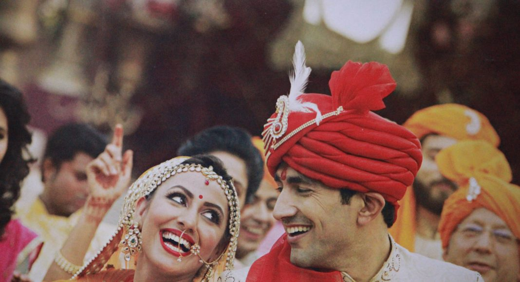 Indiai menyasszony és vőlegény