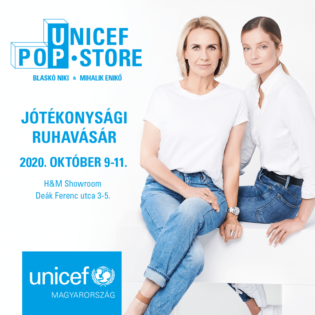 Unicef Pop-up Store Blaskó Nikivel ès Mihalik Enikővel