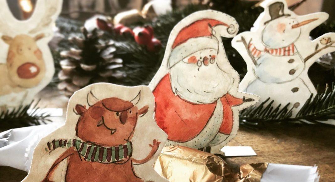 Agócs Írisz karácsonyi rajzok