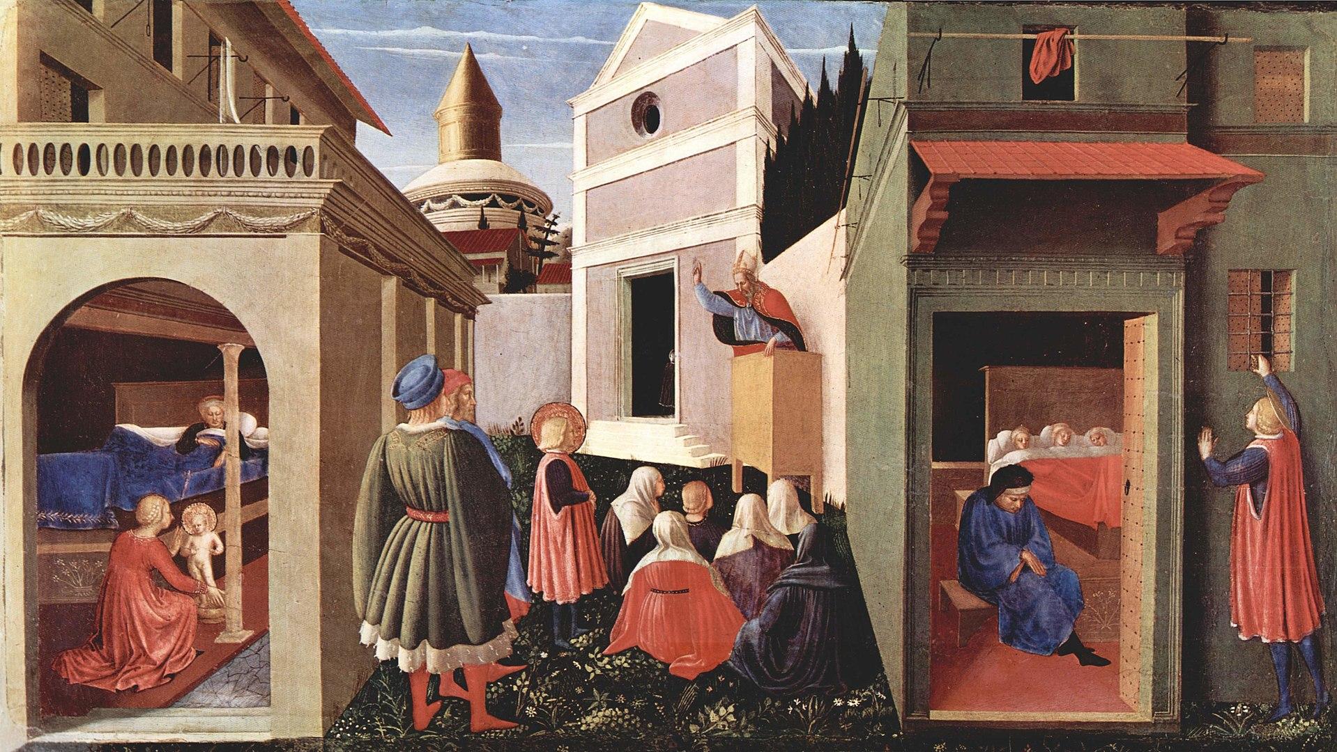 Fra Angelico: A három szűz férjhezadása, 1437