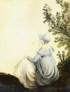 Jane Austen testvére, Cassandra képén