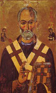 Mürai Szent Miklós portréja a 13. századból forrás: wikipedia