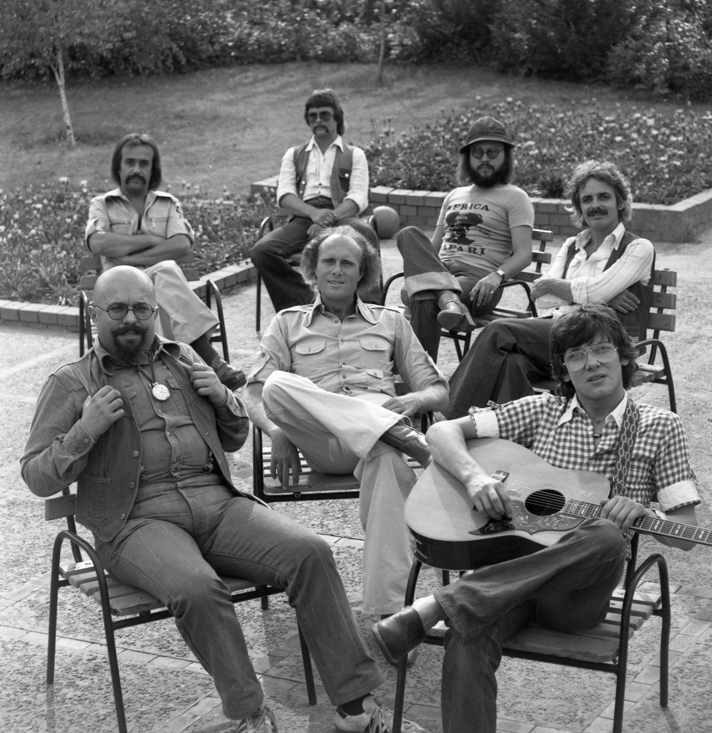 a Bergendy együttes Delhusa Gjonnal 1977-ben Fortepan/Urbán Tamás