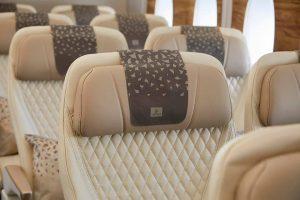 Az Emirates A380 járat bőrülései