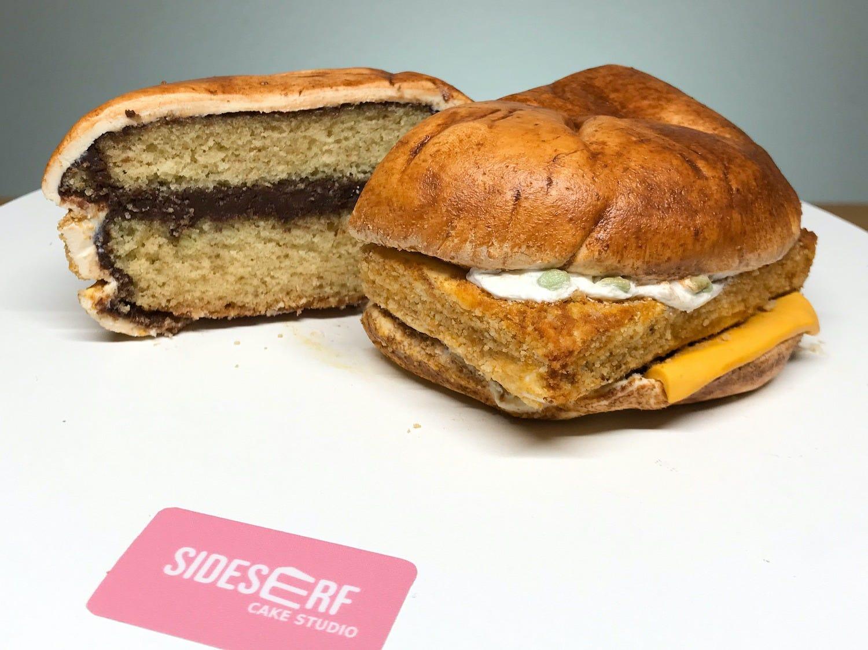 Kreatív torta hamburger