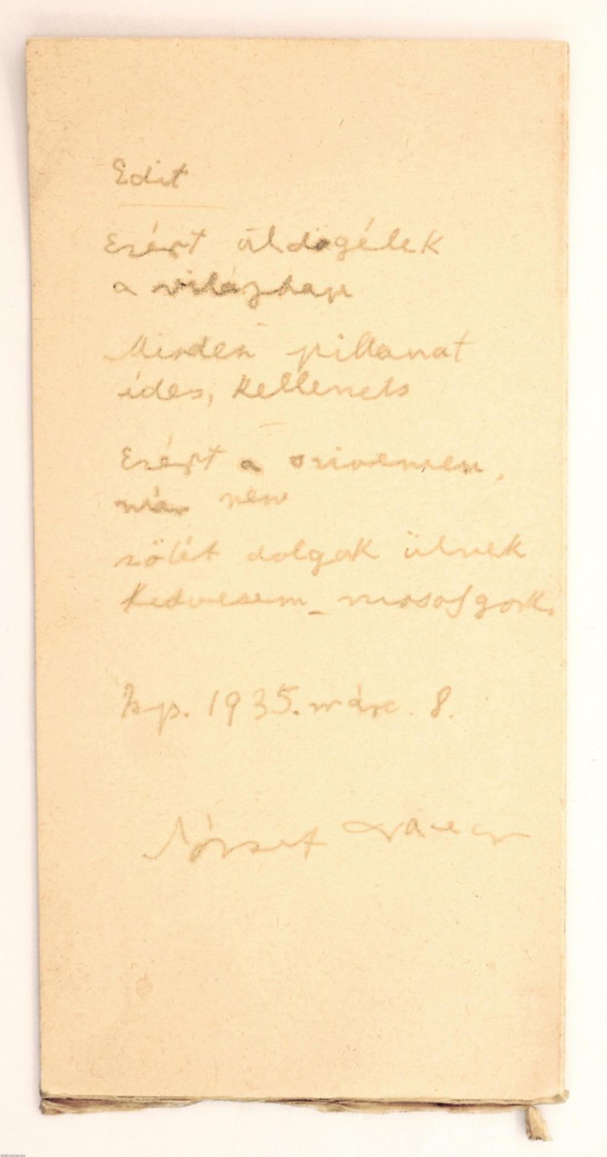 József Attila Edit című verse