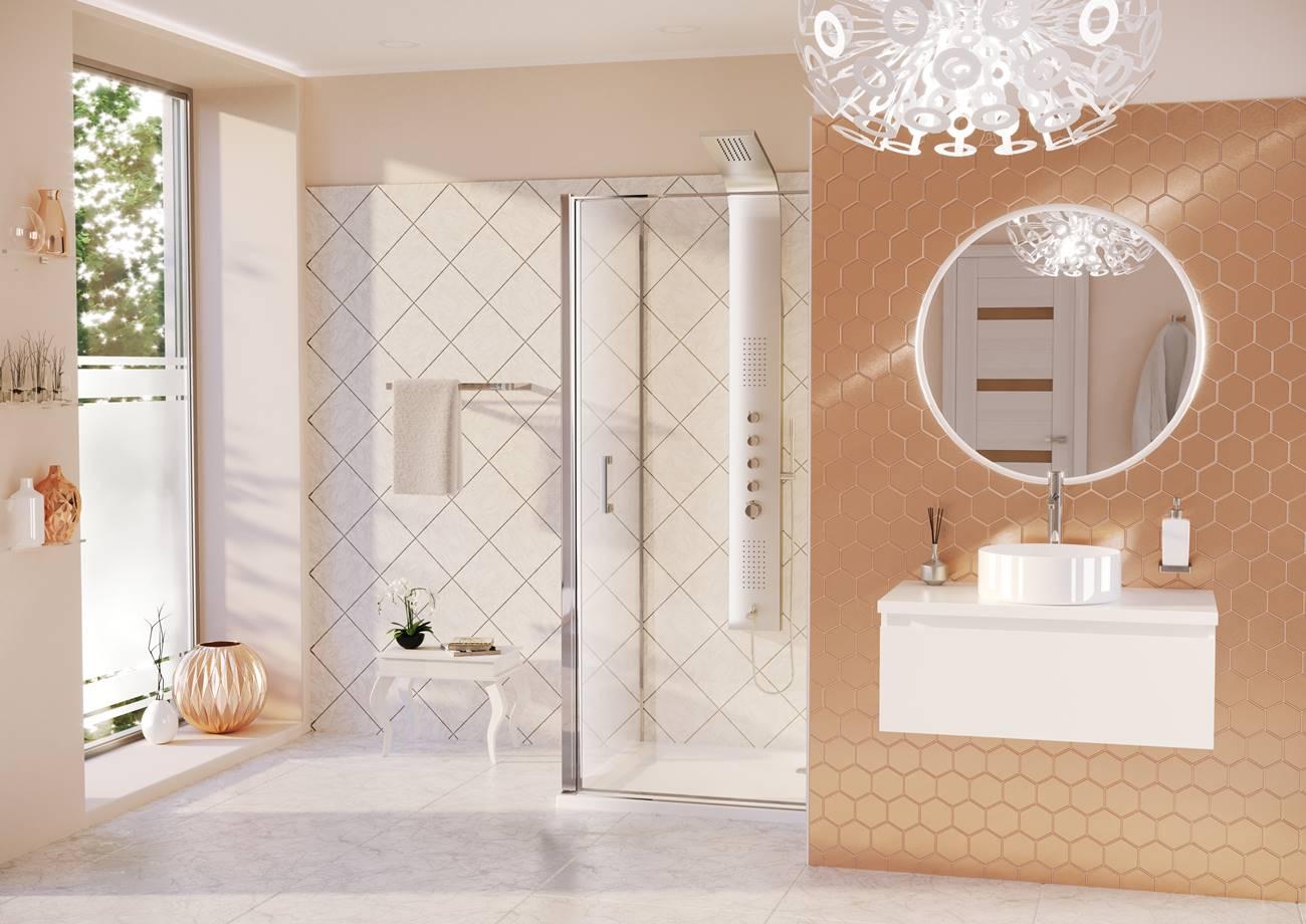 Pultra építhető mosdókagyló a fürdőszobában