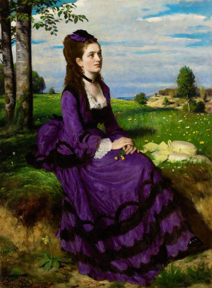 Szinyei Lilaruhás nő