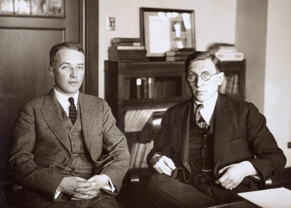 Charles H. Best és Banting, c. 1924.