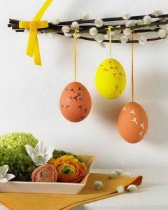 Barka dekoráció tojással