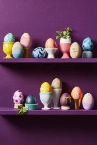 Polcos dekoráció tojásokkal