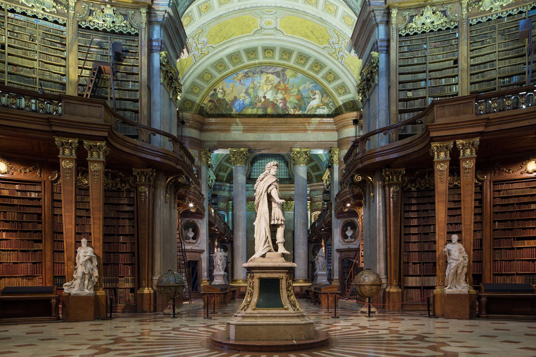 Osztrák Nemzeti Könyvtár Bécsben