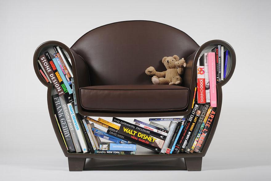 Kreatív könyves fotel