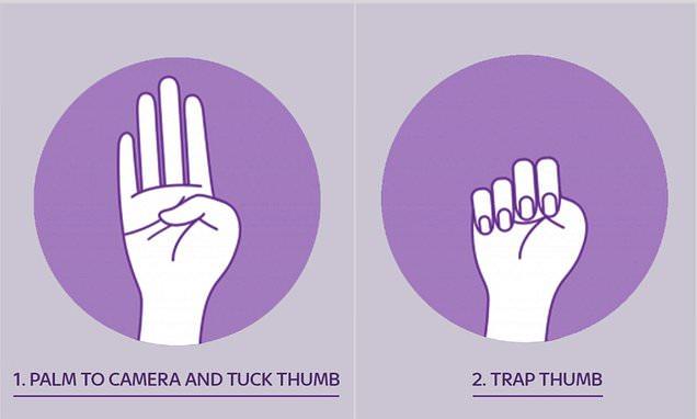 Kézjel-bántalmazás-segítség