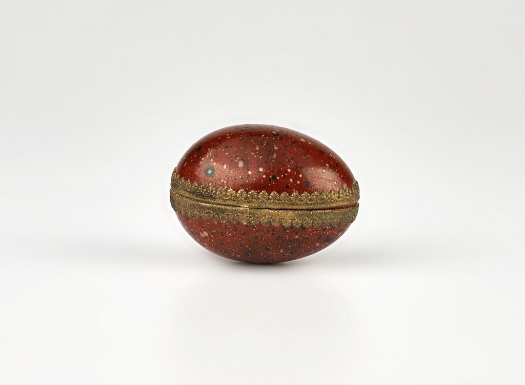 Lakkozott papírmasé húsvéti tojás - 1875-1910 - IM