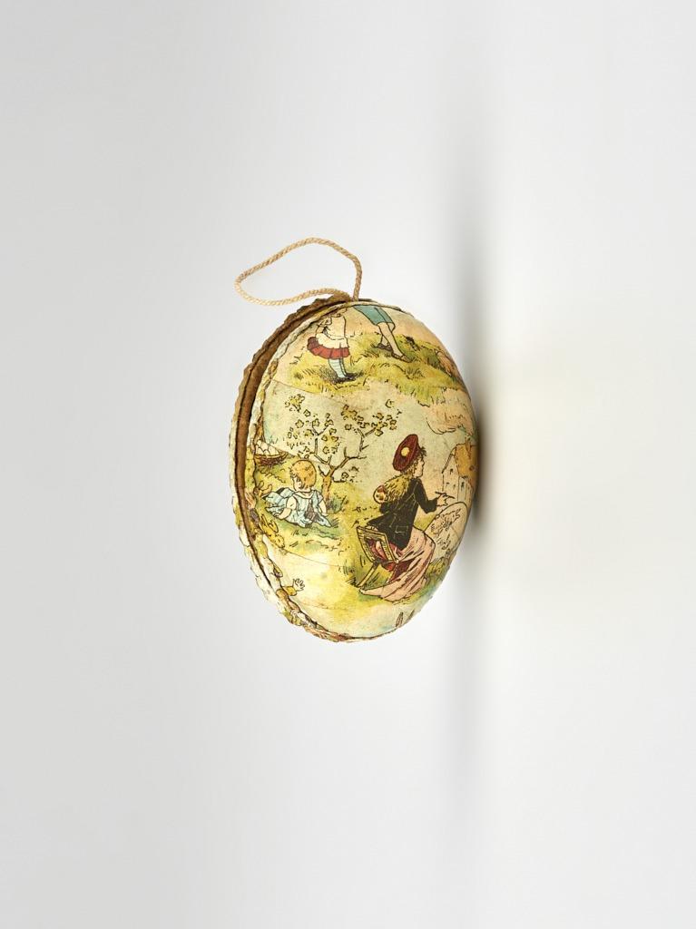 Papírmasé húsvéti tojás - 1875-1910 - IM