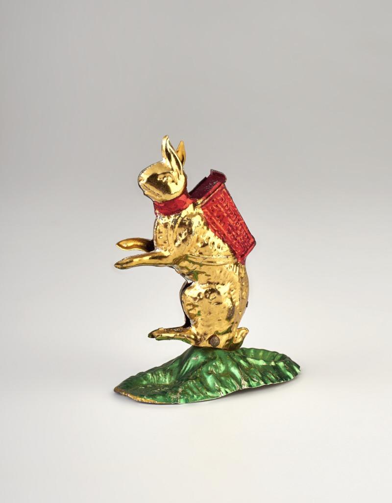 Húsvéti nyúl figura - bádog - 1875-1910 - IM