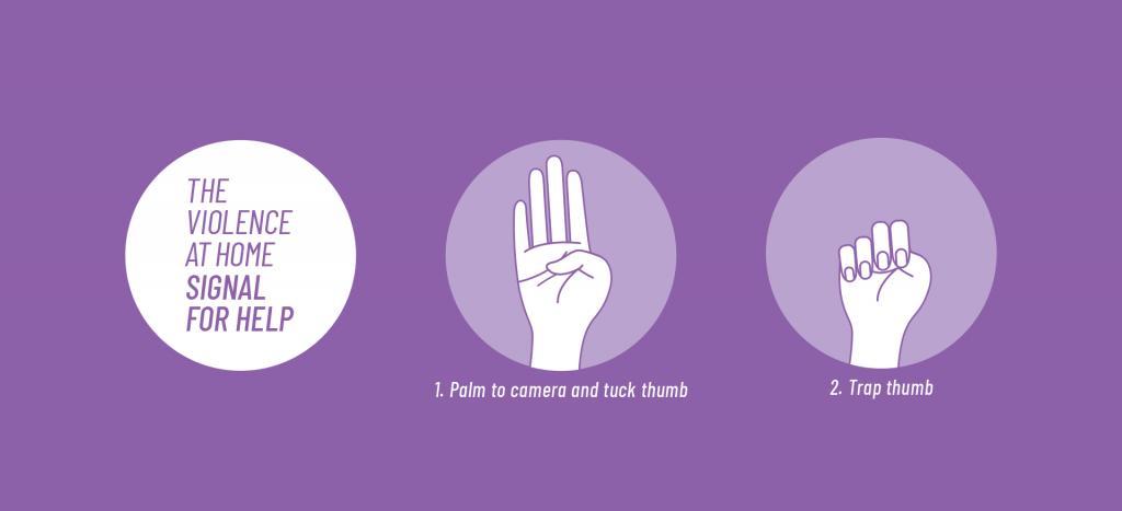 Bántalmazás segítség kézjel