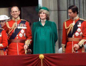 Diana és Fülöp a Buckinhgam-palota erkélyén