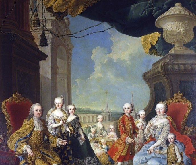 Mária Terézia családja körében