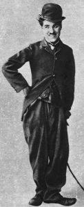 Charlie Chaplin a csavargó figurájában
