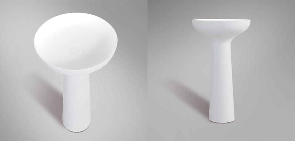 Fehér álló kerámia mosdókagyló