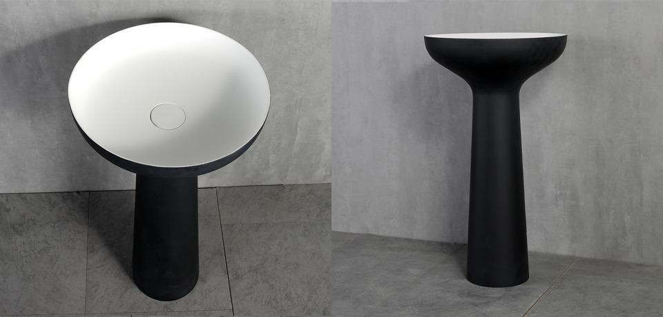 Fekete álló kerámia mosdókagyló