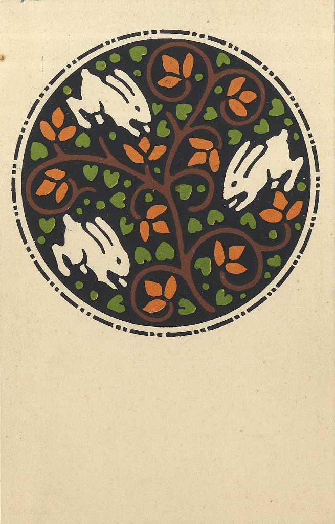 Képes levelezőlap - húsvétra (az Országos Magyar Királyi Iparművészeti Iskola számára) - 1913 - IM