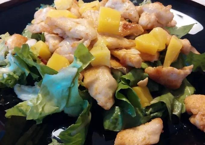 mangós csirkés saláta
