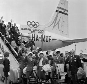 Olimpiai Bizottság a repülőtéren