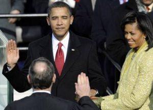 Az első afroamerikai elnök beiktatása