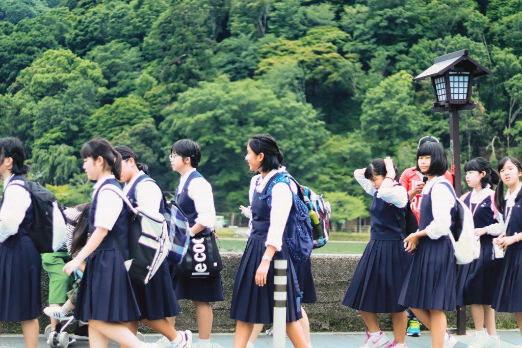 japán iskolások